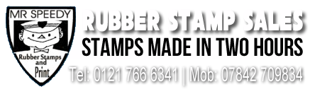 Speedy Rubber Stamps Birmingham – Same Day, 7 Days a week